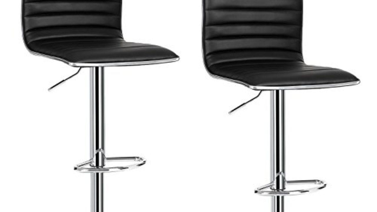 Barhocker Tresenhocker 2er Set Barstühle  mit Lehne Massivholz Schwarz BH21sz-2
