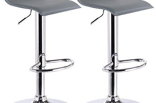 WOLTU Barhocker Design Drehstuhl Hocker Barstuhl Lounge Bar Stuhl 2x Grau BH11gr