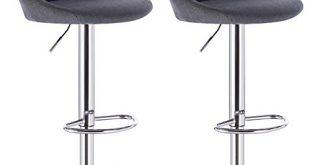 WOLTU BH69dgr 2 Barhocker Tresenhocker gut gepolsterte Sitzflaeche aus Leinen Hoehenverstellbar 310x165 - WOLTU BH69dgr-2 Barhocker Tresenhocker, gut gepolsterte Sitzfläche aus Leinen, Höhenverstellbar, Drehbar, 2 x Hocker, Dunkelgrau