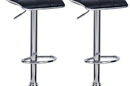 WOLTU BH28sz 2 2X Barhocker 2er Set Barstuhl Tresenhocker aus hochwertigem 500x330 - WOLTU BH28sz-2 2X Barhocker 2er Set Barstuhl Tresenhocker, aus hochwertigem Kunstleder, verchromter Stahl, Antirutschgummi,gut gepolsterte Sitzfläche, Schwarz