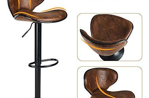 DICTAC Barhocker 2er Set hoehenverstellbare Barstuehle 360° Drehstuhl Bistrohocker mit 500x330 - DICTAC Barhocker 2er Set höhenverstellbare Barstühle 360° Drehstuhl Bistrohocker mit Rückenlehne Barstuhl für Hausbar Einfache und schnelle Montage